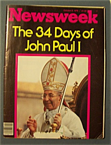 Oct 9, 1978- 34 Days Of John Paul I