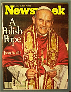 Newsweek Magazine - October 30, 1978 - A Polish Pope