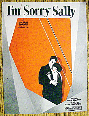 Sheet Music For 1928 I'm Sorry Sally