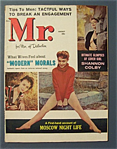 Mr. Magazine-august 1960-intimate Glimpse Of Cover Girl
