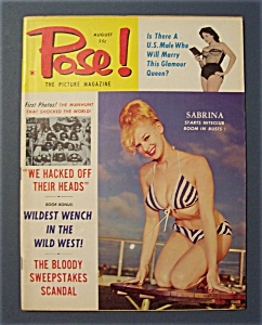 Pose Picture Magazine-august 1960-sabrina Starts Boom