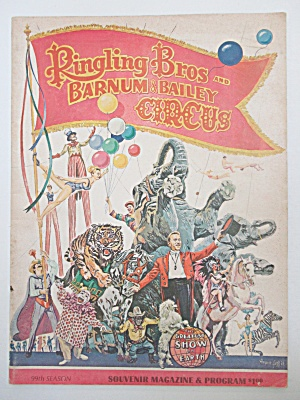 Ringling Bros & Barnum & Bailey Circus Program 1969