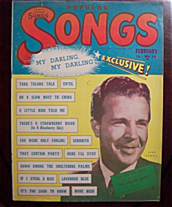 Popular Songs Magazine - Feb 1949 - Dick Powell Cover