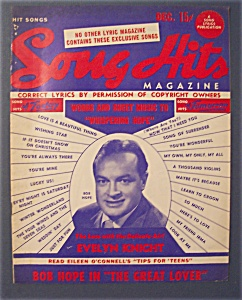 Song Hits Magazine - December 1949 - Bob Hope Cover