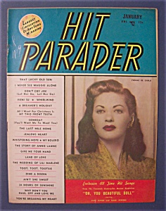 Hit Parader- Jan 1950 -yvonne De Carlo