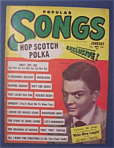 Popular Songs Magazine - Jan 1950 - Bill Lawrence Cover