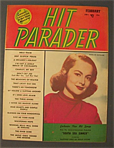 Hit Parader -feb 1950- Olivia De Haviland Cover