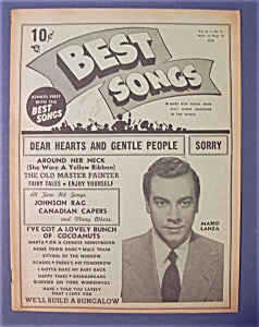 Best Songs Magazine - Feb 1950 - Mario Lanza Cover