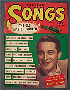 Popular Songs- March 1950 -perry Como
