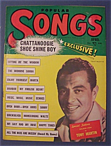 Popular Songs Magazine - April 1950 - Tony Martin Cover