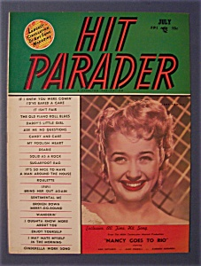 Hit Parader Magazine - July 1950 - Jane Powell Cover