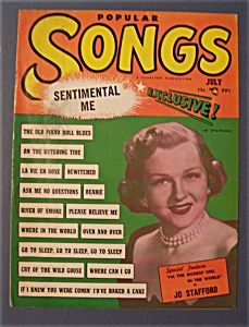 Popular Songs Magazine - July 1950 - Jo Stafford Cover