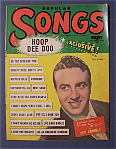 Popular Songs Magazine -august 1950- Don Cornell Cover