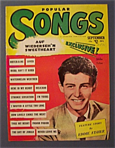 Popular Songs Magazine - Sept 1952 - Eddie Fisher Cover