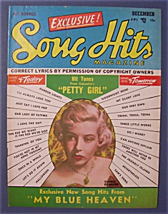 Song Hits Magazine - Dec 1950 - Gloria De Haven Cover