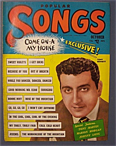 Popular Songs Magazine - Oct 1951 - Tony Bennett Cover