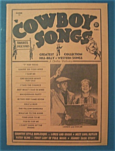 Cowboy Songs Magazine - Spring 1963 - Lonzo And Oscar