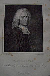1881 Engraving of Isaac Watts D.D. (Image1)