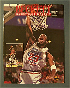 Beckett Basketball Monthly-february 1993-michael Jordan