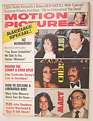 Motion Picture Magazine May 1974 Liz, Cher & Mary
