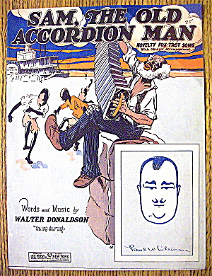 1927 Sam, The Old Accordion Man By Walter Donaldson