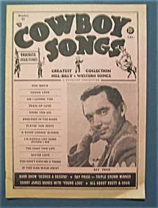 Cowboy Songs-june 1957 -ray Price Cover
