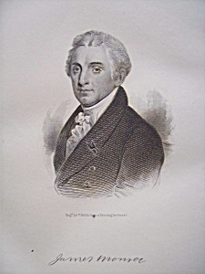 President James Monroe 1849 Engraving (Image1)