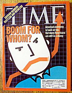 Time Magazine-october 24, 1994-boom For Whom?