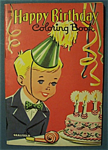 Happy Birthday Coloring Book - 1957