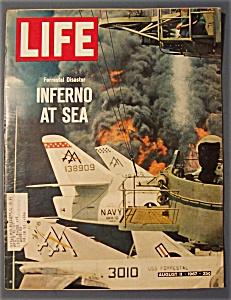 Life Magazine - August  11,  1967 -  Inferno  At  Sea (Image1)