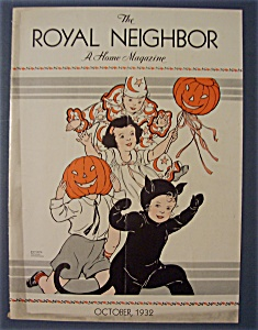 Royal Neighbor Cover By Esther Harmon-october 1932