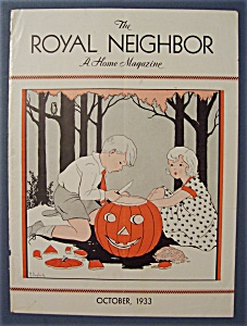 Royal Neighbor Cover By Margaret Daugherty-oct 1933