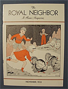 Royal Neighbor Cover By Margaret Daugherty-nov 1933