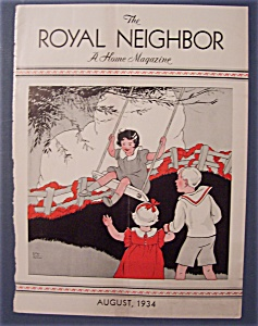 Royal Neighbor Cover By Esther Harmon - August 1934
