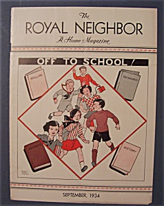 Royal Neighbor Cover By Esther Harmon - September 1934