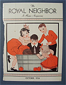 Royal Neighbor Cover By Prg - October 1934