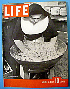 Life Magazine - August 2, 1937 - Sister Making Salad