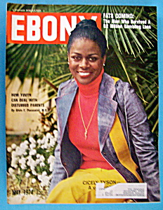 Ebony Magazine-may 1974-cicely Tyson & Fats Domino