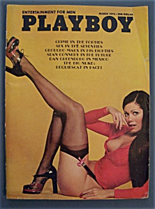 Vintage Playboy Magazine-march 1974-pamela Zinszer