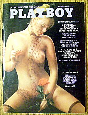 Playboy Magazine-august 1975-lillian Muller