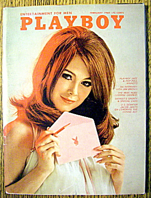 Playboy Magazine-february 1968-nancy Harwood