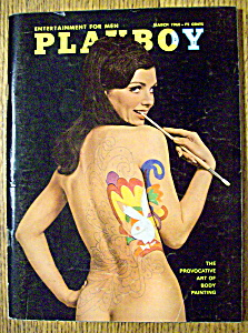 Playboy Magazine-march 1968-michelle Hamilton