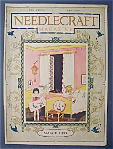 Needlecraft Magazine Cover By Helen Grant - March 1927