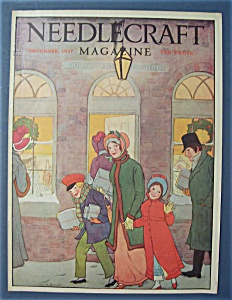 Needlecraft Magazine Cover By Bogart - December 1927