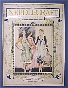 Needlecraft Magazine Cover By K. Ogilvies - May 1927