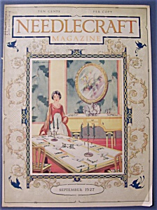 Needlecraft Magazine Cover By Ogilvies - September 1927