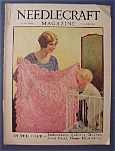 Needlecraft Magazine Cover By W. Grotz - June 1928