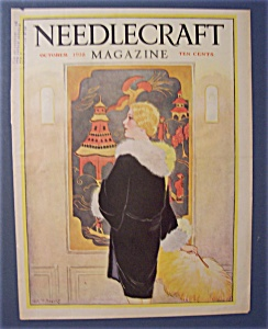 Needlecraft Magazine Cover By Bogart - October 1928