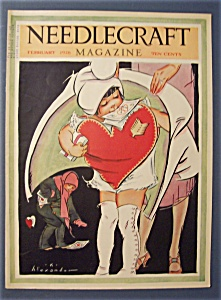 Needlecraft Magazine Cover By K.alexander-february 1928