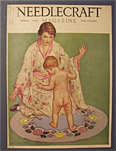 Needlecraft Magazine Cover By Alice Winter - April 1928